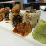 unagi sushi with foie gras (not stingy!)