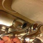 Loose kitchen sink tap