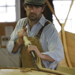 Boatbuilder Graham McKay at work