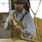 Boatbuilder Graham McKay at work