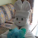 Towel arts in the room