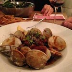 The Black Pasta with clams and sweet sausage was too sweet..