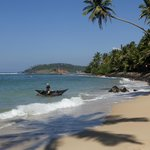 The uncrowded beach right opposite the road from the guesthouse