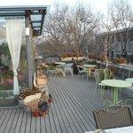outdoor patio (in winter)