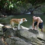 Parlatuvier falls / swimming with Wonderdog