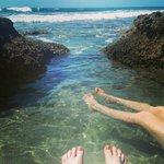 Relaxing in the ocean.