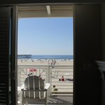 View from inside Oceanfront room