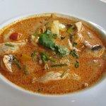 Delicious tom kha soup