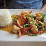 shrimp stir fry type dish