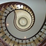 Hotel staircase - looking up!