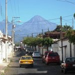 Volcano view from Comala