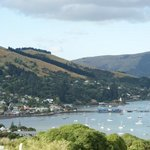 View of Akaroa harbour from our balcony