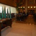 hotel restaurant/lobby area