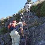 three ladders...easier way to traverse a steep incline