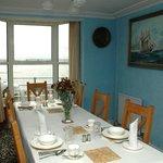 Our breakfast room overlooks the estuary
