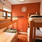 4 beds room, shared bathroom