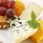 Enjoy a special cheese plate.