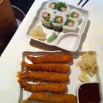 tempura crevettes et makis
