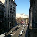 Vue sur la plaça de la Catalunya !