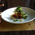 organic salmon fishcake