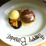 cheesecake with birthday message
