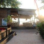 Poolside at sunrise