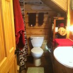 Downstairs Chinook Cabin Bathroom with Jacuzzi Tub