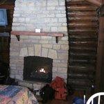 Cozy gas fireplace