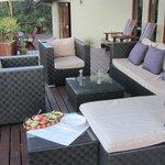 Loungebereich Terasse Lodge