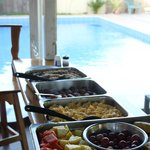 """Just one more view of that pool, and the delectible """"soda"""" breakfasts within w"""