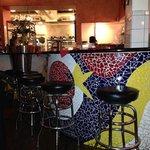 mosaic tiled bar