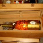 A 6 Liter bottle of Crystal Champagne in wine cellar