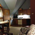 The kitchenette area.