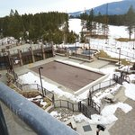 Outdoor pool covered up for the winter