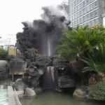 間歇泉の噴湯