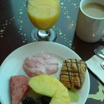 My breakfast at the Concierge Lounge