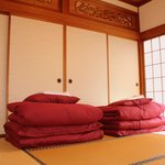The Lanma and sliding doors divide guest rooms.