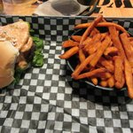 lunch - 4oz Royal Burger with sweet potato fries