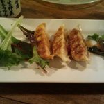 Pork Gyoza. I had to eat one as soon as it came!