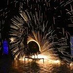 Night fire twirlers