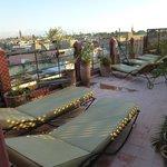 Terrasse la plus haute du Riad
