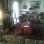 A part of the very cosy living room which all guests are free to enjoy any tim