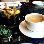 Coffee on executive floor lounge