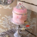 a little pink princess cake