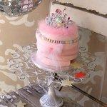 a little pink princess cake