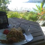 juwita's special fried rice and the toba lake for brunch :D
