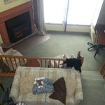 View of room from upstairs