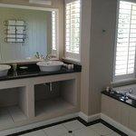 Bathroom with heated towel rails