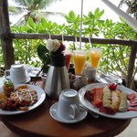 Anniversary Breakfast on our Balcony