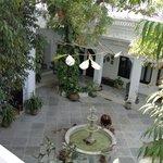 leafy inner courtyard